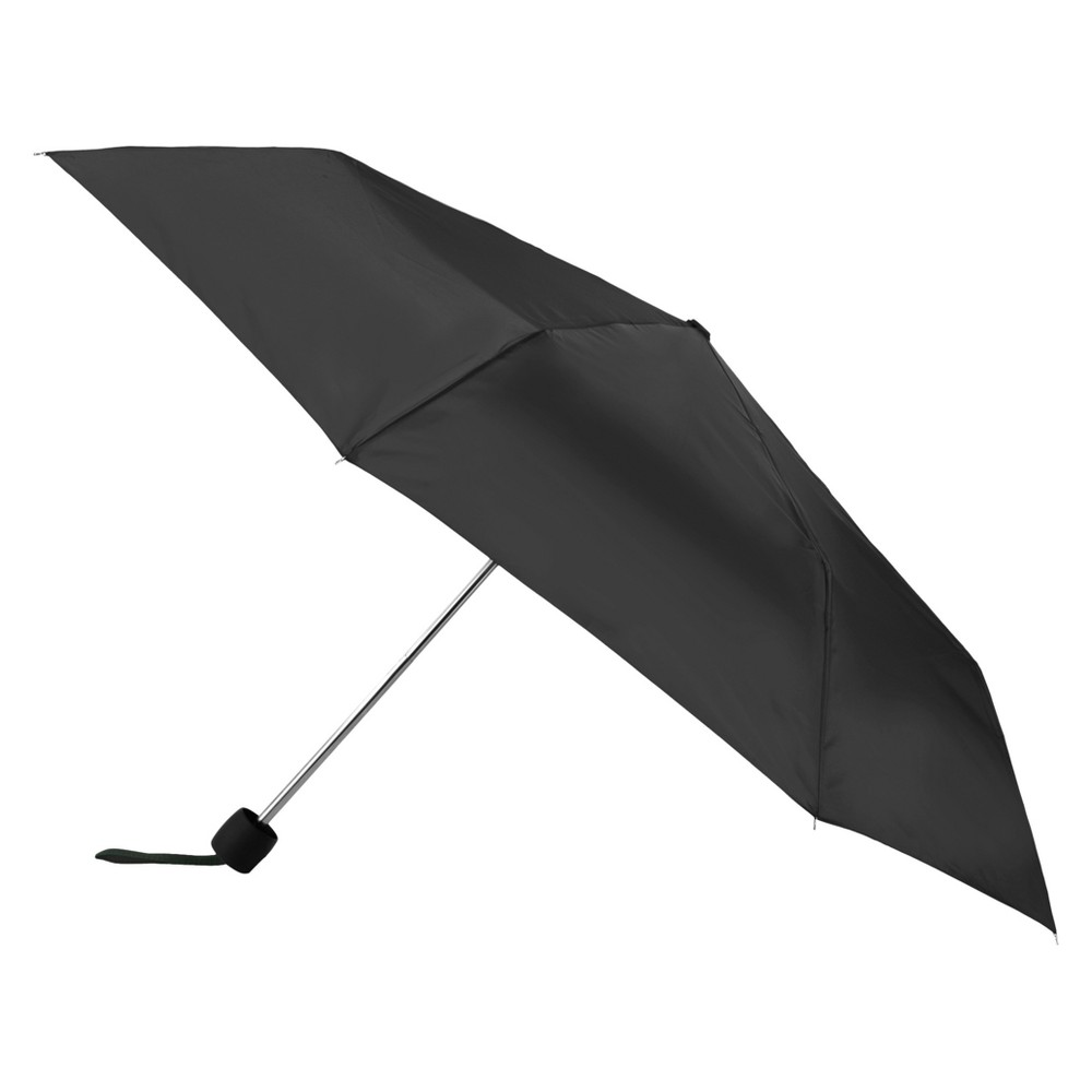 Totes Manual With Neverwet Compact Umbrella - Black