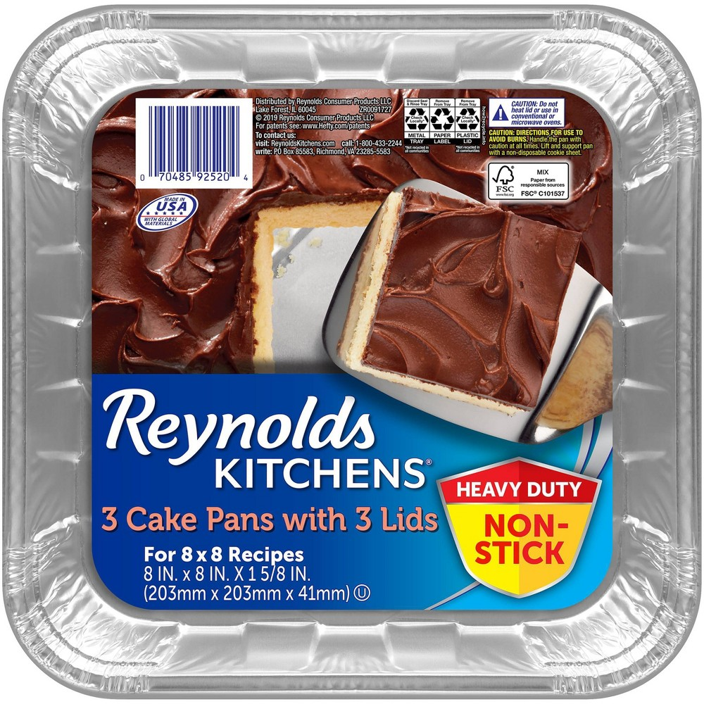 Reynolds Disposable Bakeware Non-Stick Pans with Lids - 3ct