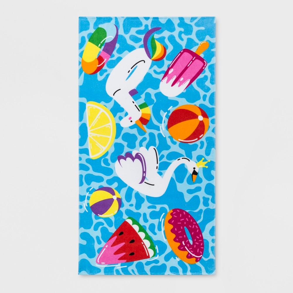 Pool Floaties Beach Towel - Sun Squad
