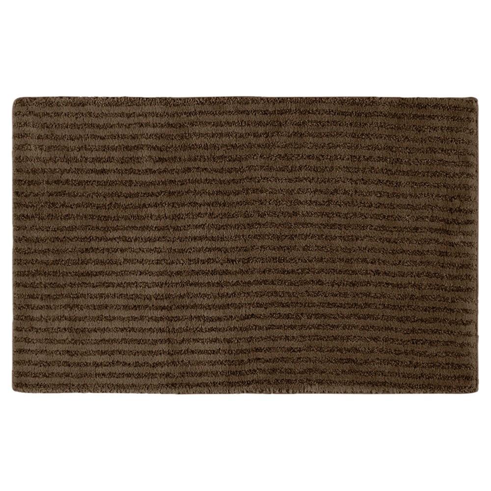 "Garland Sheridan Plush Washable Nylon Bath Rug - Chocolate (Brown) (24""x40"")"