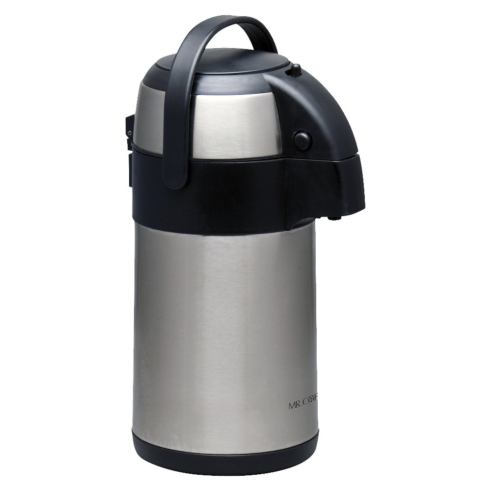 Mr. Coffee Pump Pot 2.3qt, Silver