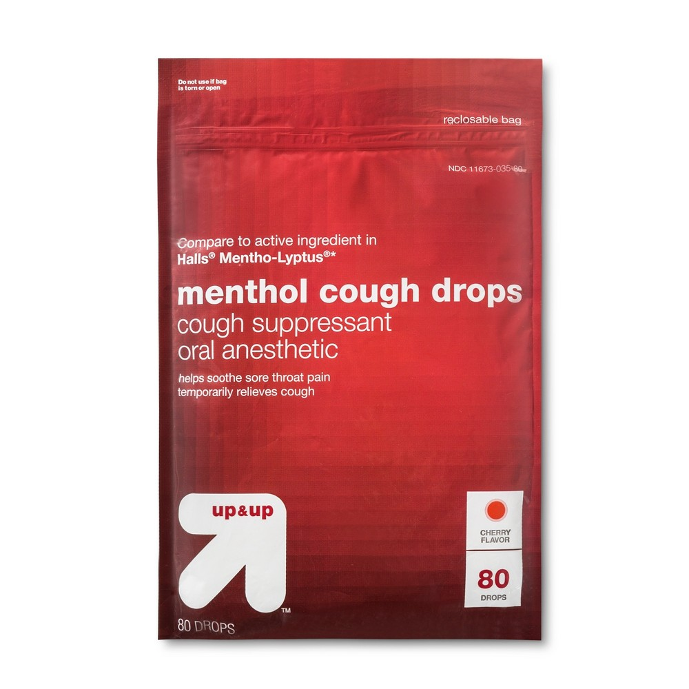 Menthol Cough Drops - Cherry - 80ct - Up&Up