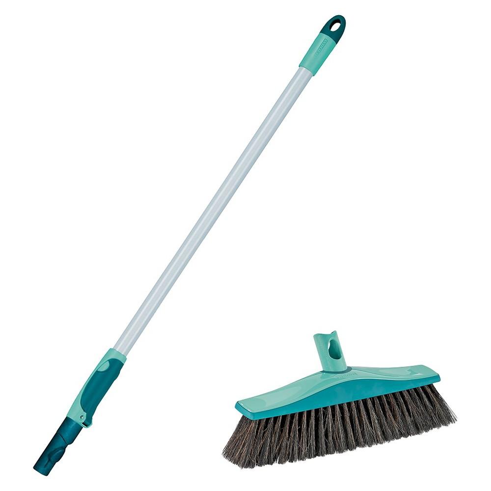 Leifheit Xtra Clean Plus Parquet & Laminate Broom, Lagoon Turquoise