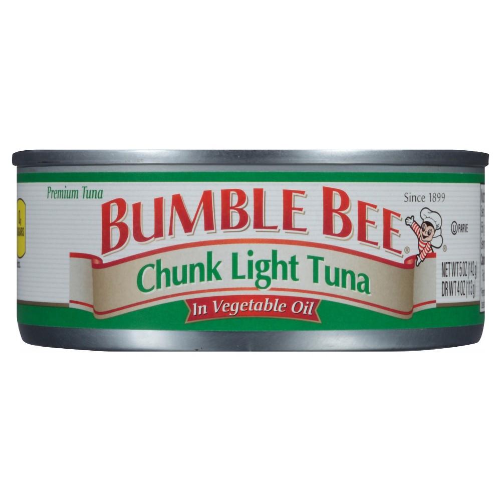 Bumble Bee Chunk Lite Tuna in Vegetable Oil 5 oz
