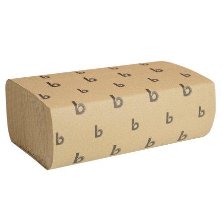 Boardwalk Multifold Paper Towels, Natural, 9 x 9 9/20, 250/Pack, 16 Packs/Carton