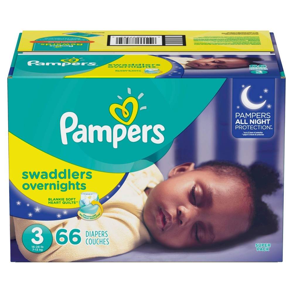 Pampers Swaddlers Overnight Diapers - Size 3 (66ct)