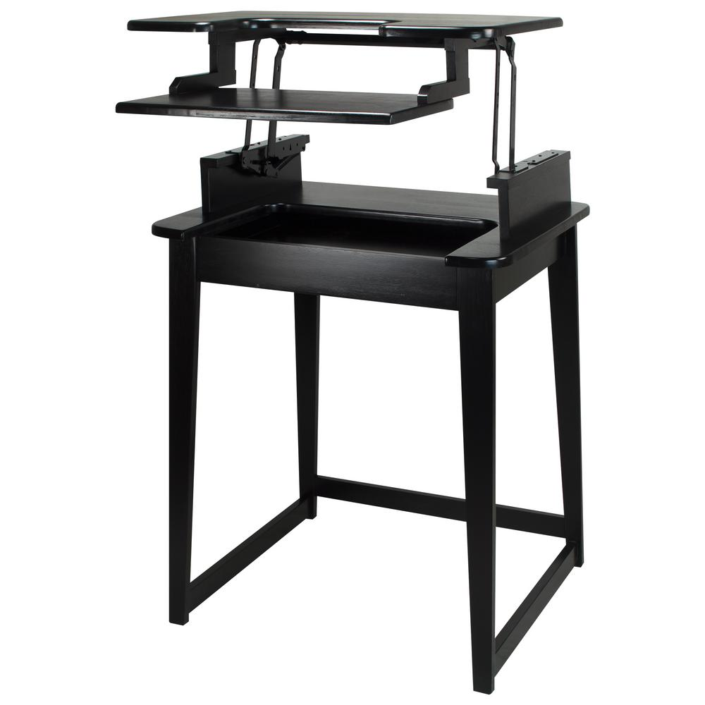 Casual Home Freestyle Black Stand-Up Desk