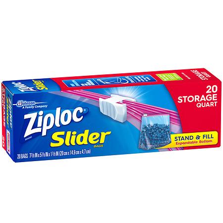 Ziploc Slider Storage Bags - 20 ea