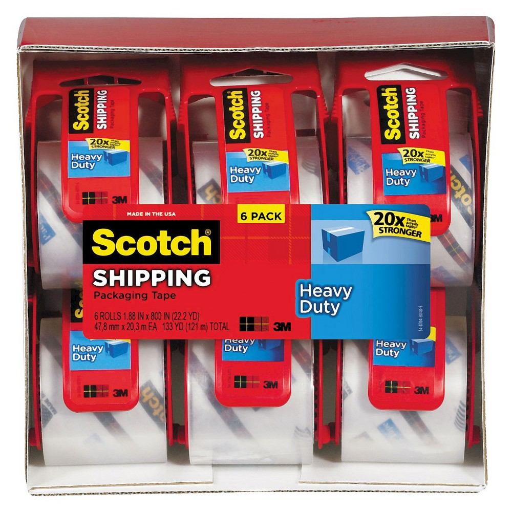 Packing Tape Clear 799.2in Scotch