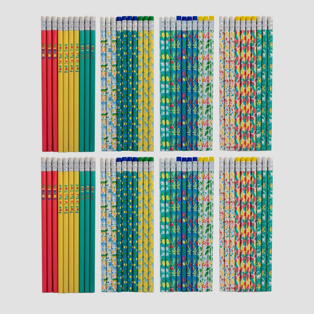 80ct #2 Wood Pencils - Bullseye's Playground, Multi-Colored