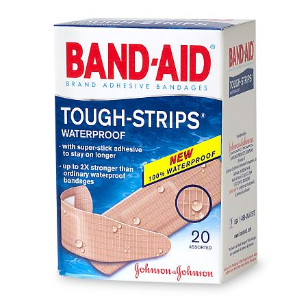 Band-Aid Tough-Strips Waterproof Bandages - 20 ea