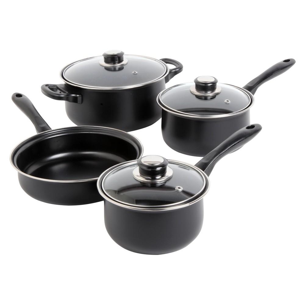 Sunbeam Newbrook 7pc Carbon Steel Cookware Set Black