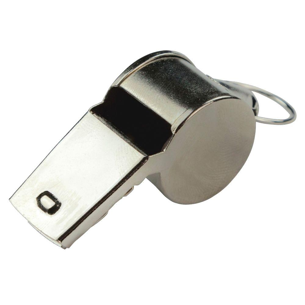 Champion Sport Medium Weight Metal Whistle, Silver