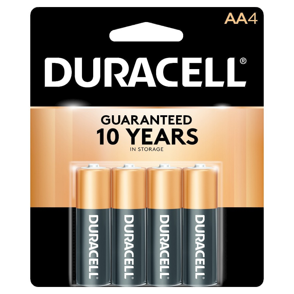 Duracell CopperTop AA Alkaline Batteries - 4 ct