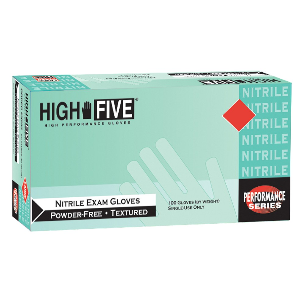 High Five Nitrile Exam Gloves Blue - XL - 100ct/2pk