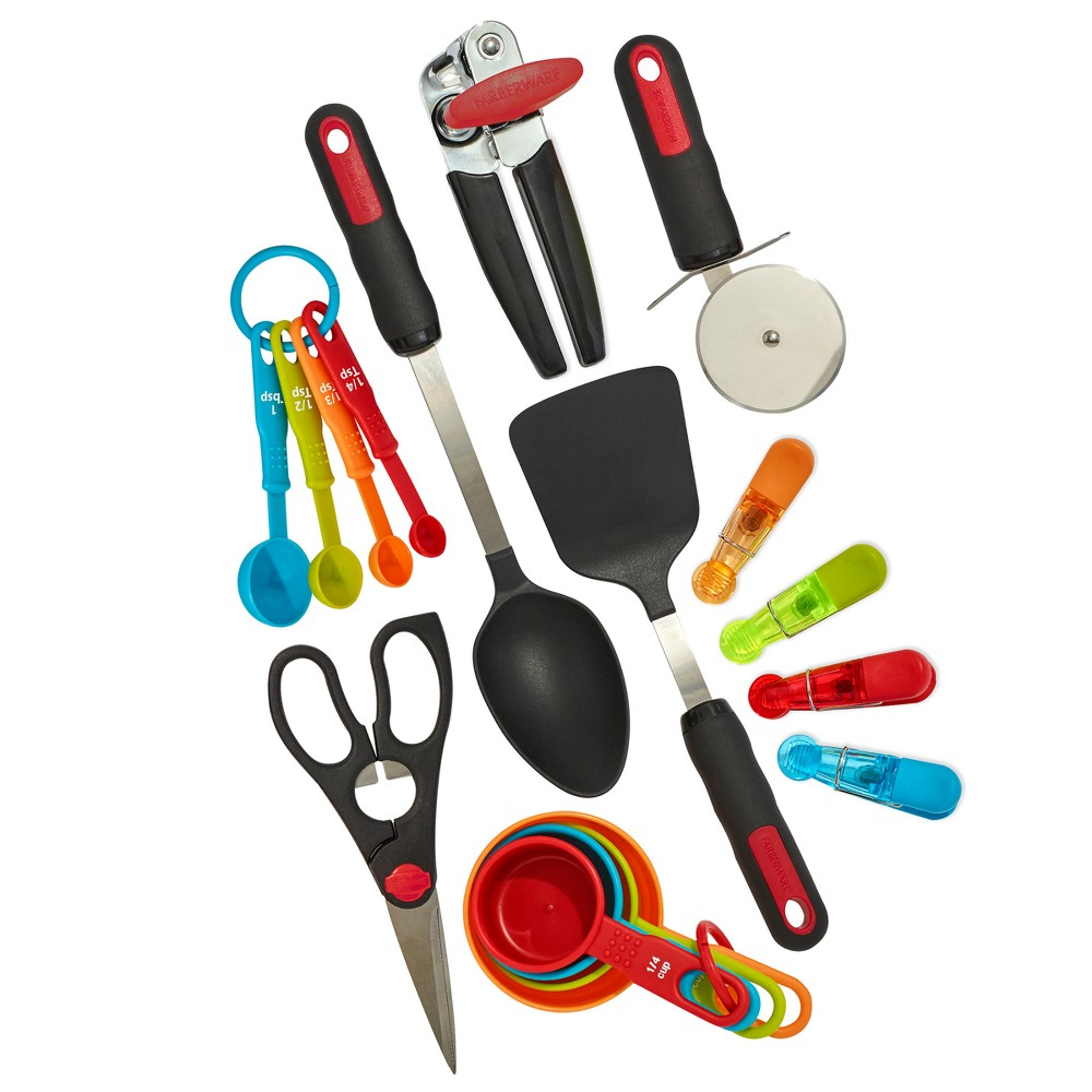Farberware Kitchen Utensil Set, Multi-Colored