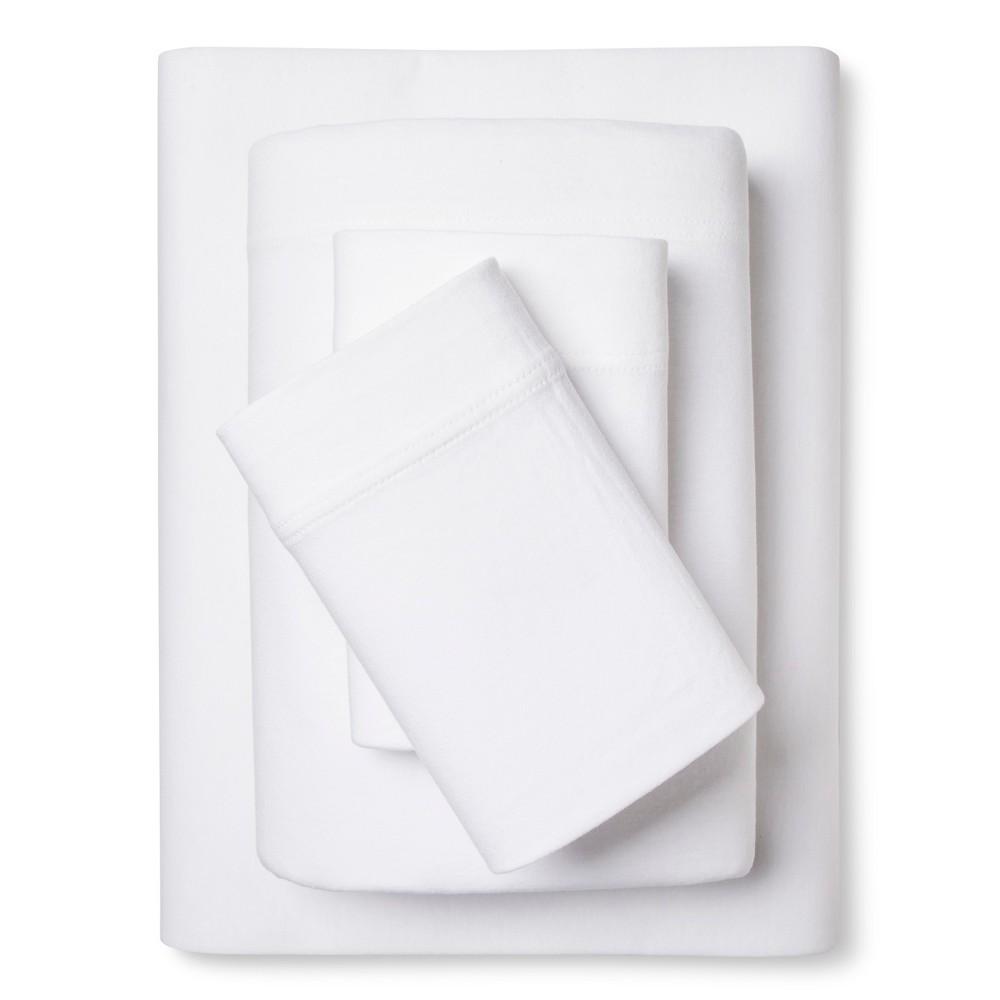 Jersey Sheet Set - True White (King) - Room Essentials