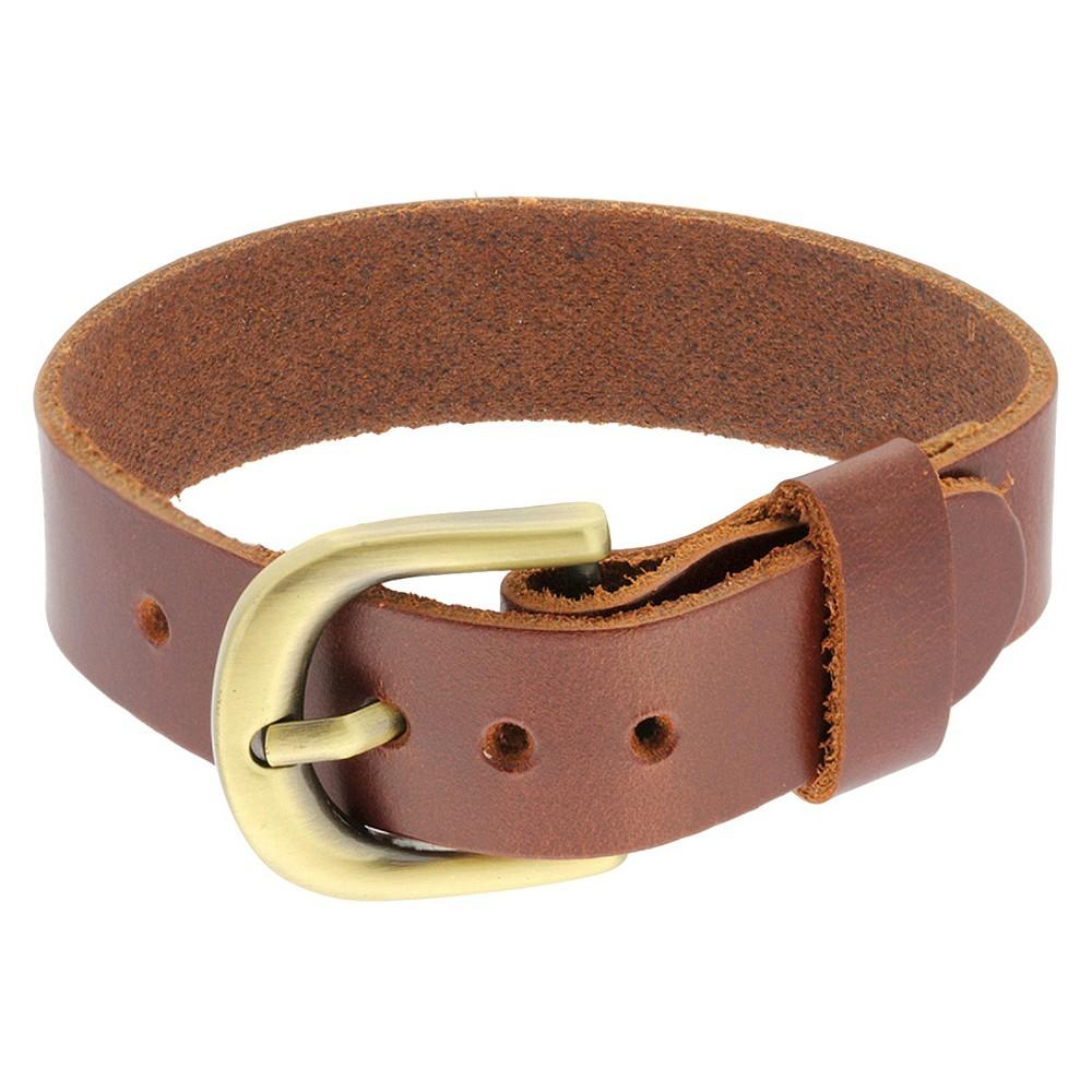 Men' Leather trap Belt Buckle Bracelet -