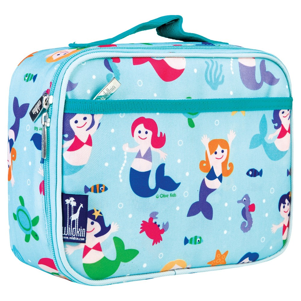 Wildkin Olive Kids Mermaids Lunch Box, Blue