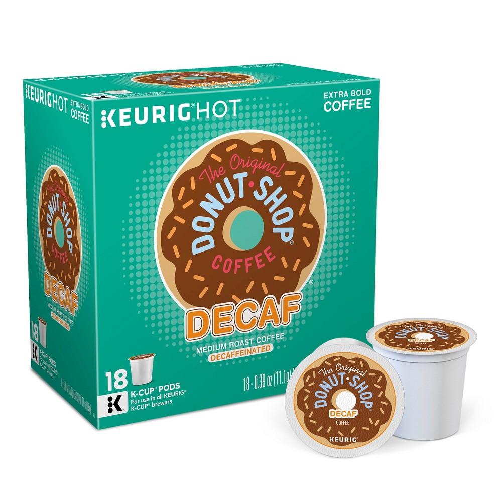 The Original Donut Shop Decaf Medium Roast Coffee - Keurig K-Cup Pods - 18ct