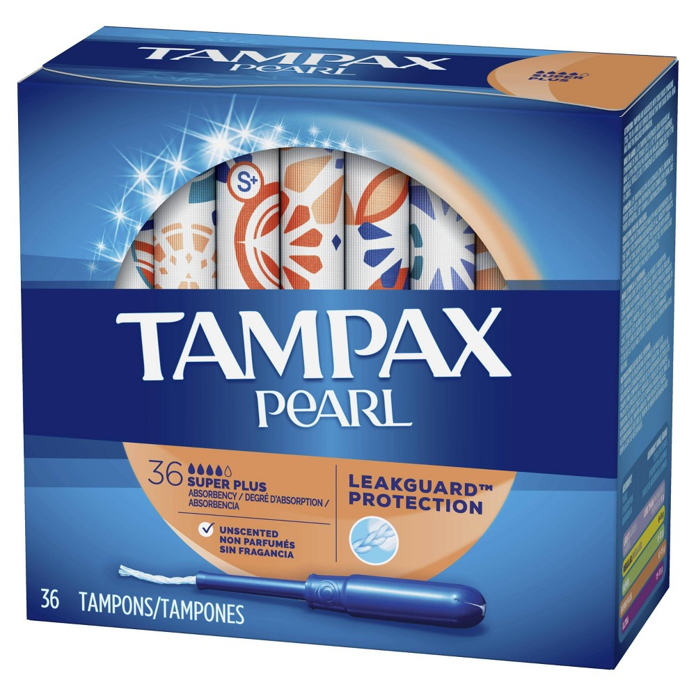 Tampax Pearl Super Plus Plastic Tampons Unscented