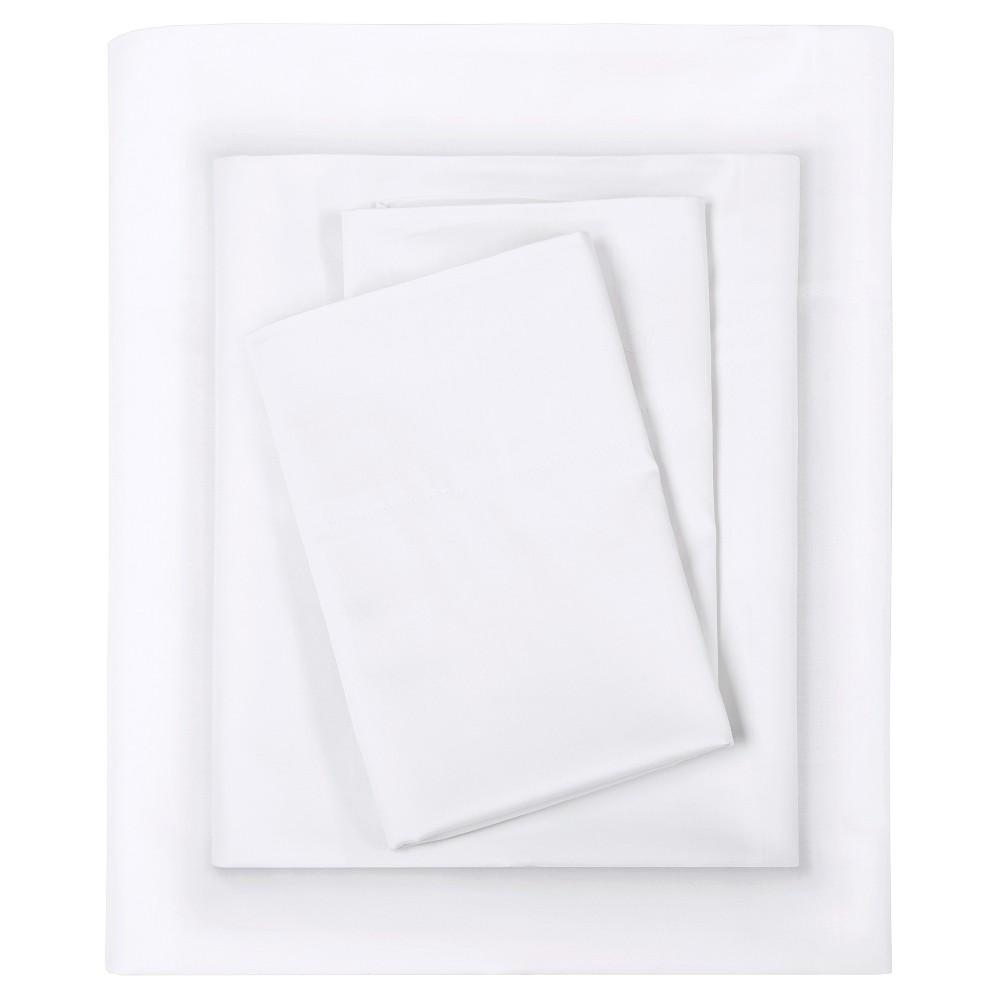 Liquid Cotton Sheet Set (Full) White