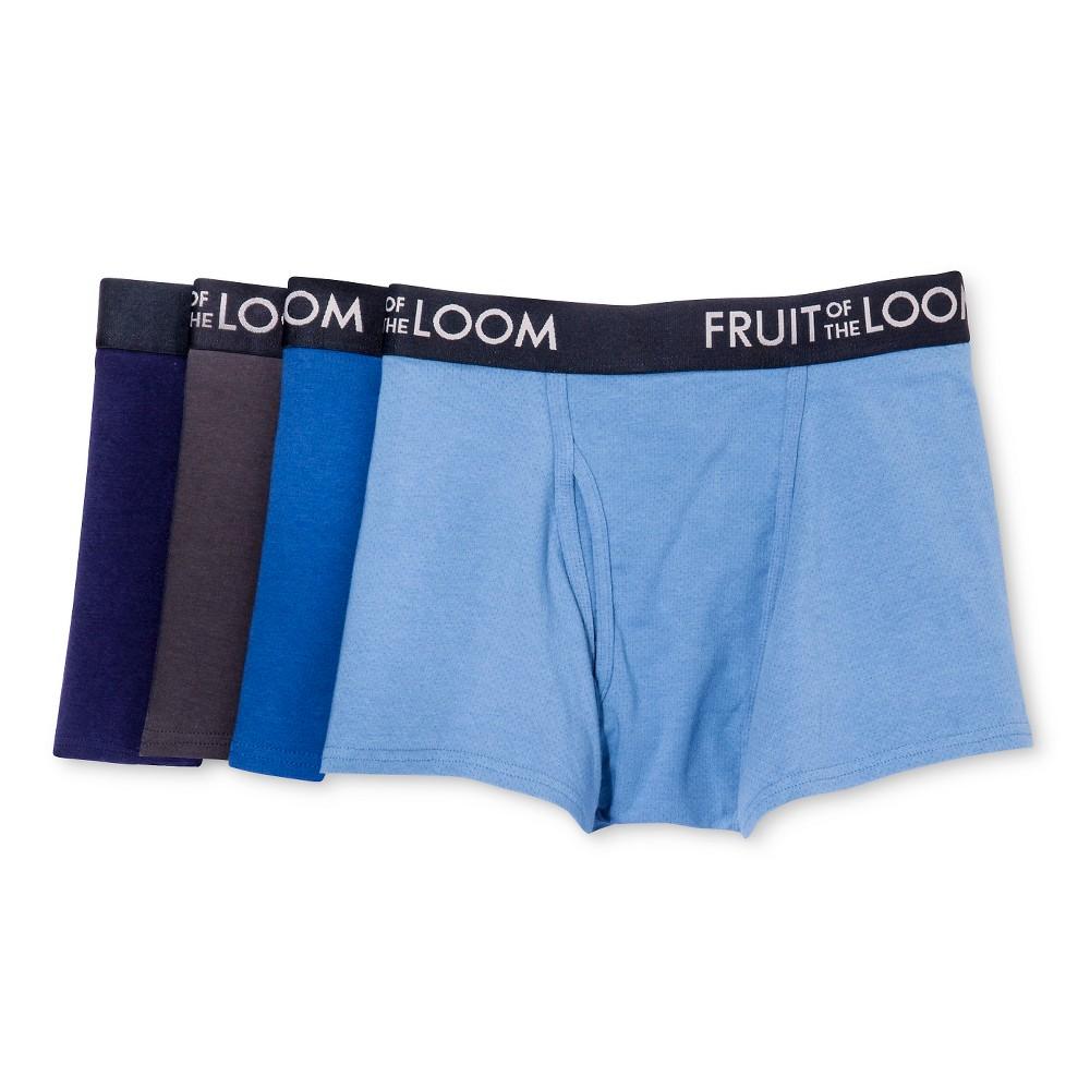 Fruit of the Loom Men's 4pk Breathable Shorts Leg Boxer Briefs - Navy/Blue S, Multicolored