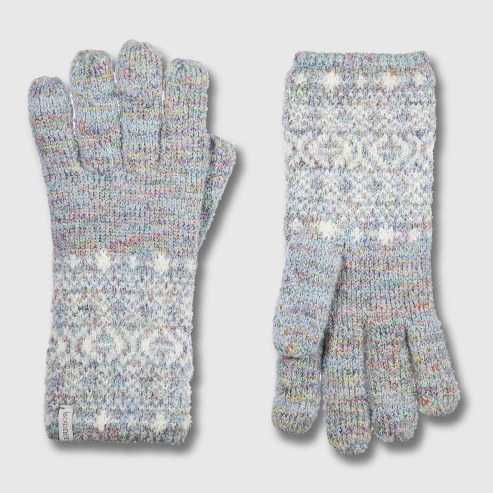 Isotoner Women's Yarn Glove - Blue One Size