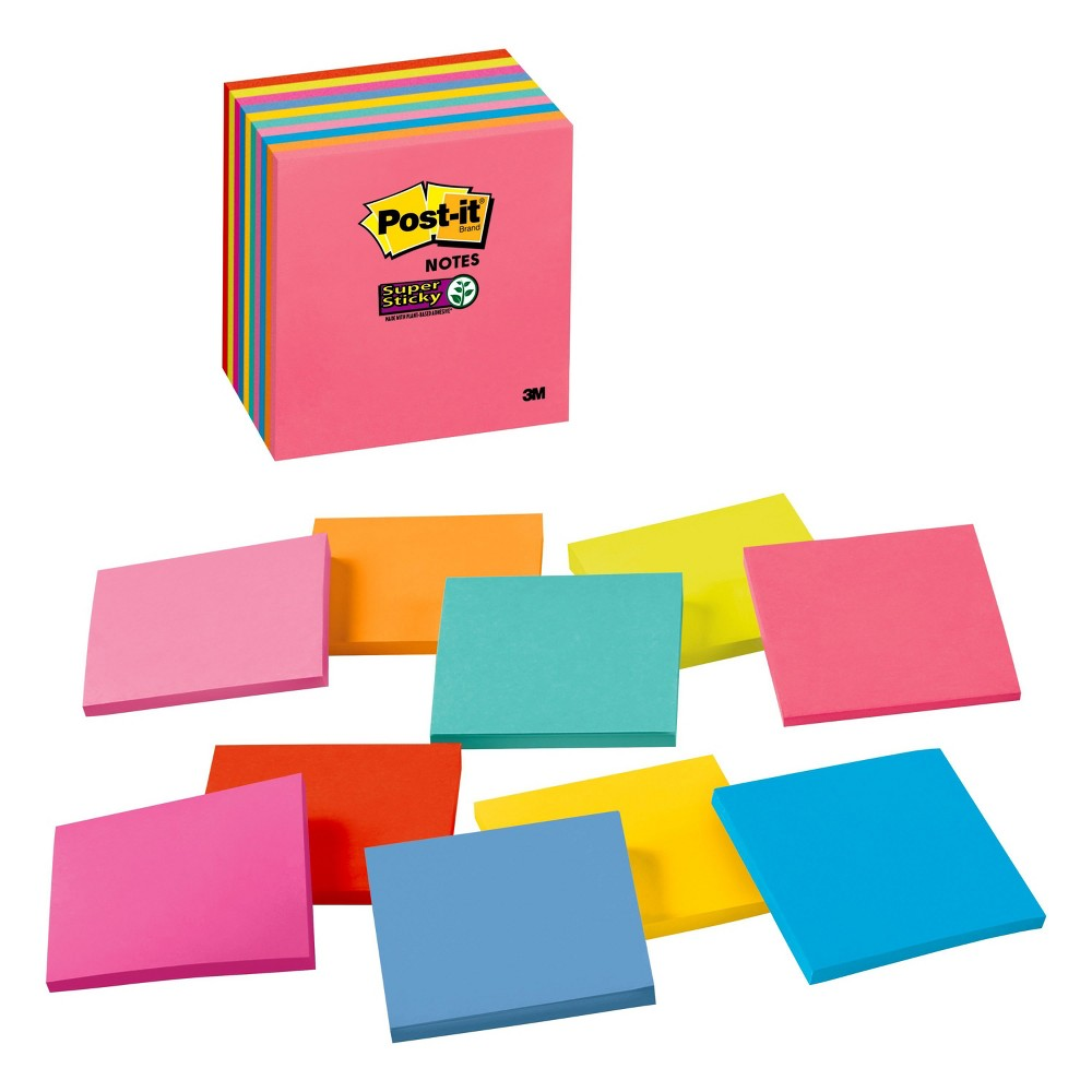 Post-It Notes Cube, 3x3 - Multicolor, Multi-Colored