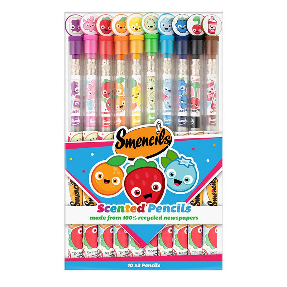Scentco Smencils #2 Scented Pencils 10ct, Multi-Colored