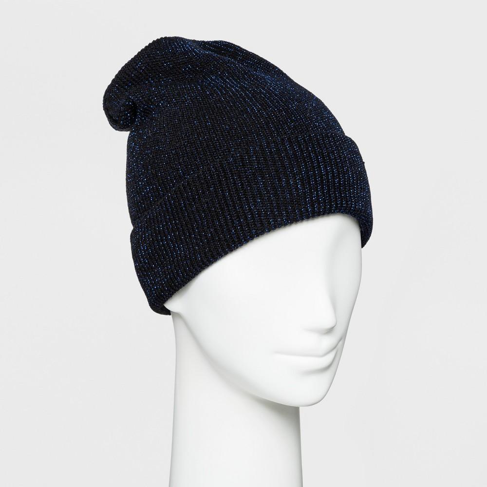 Women's Lurex Knit Beanie - Wild Fable Blue