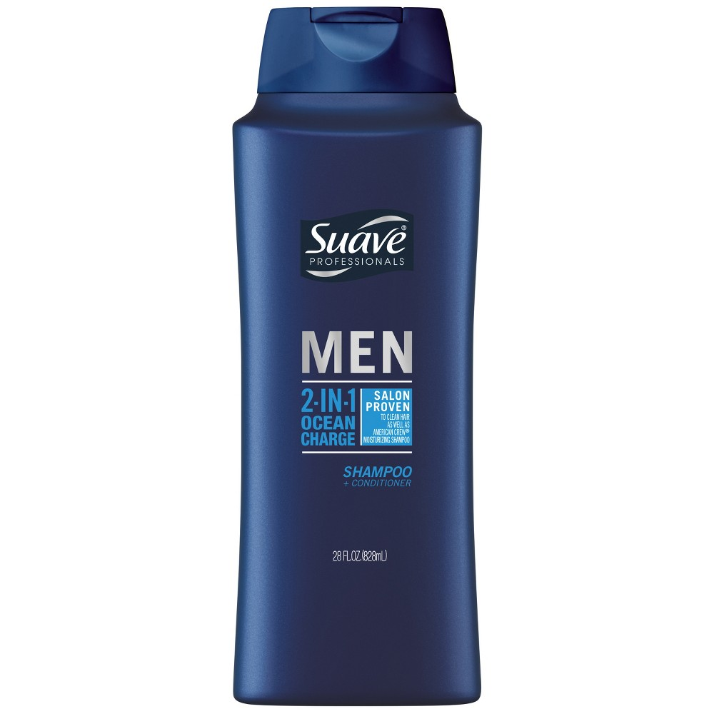 Suave Men 2 in 1 Ocean Charge Shampoo and Conditioner - 28oz