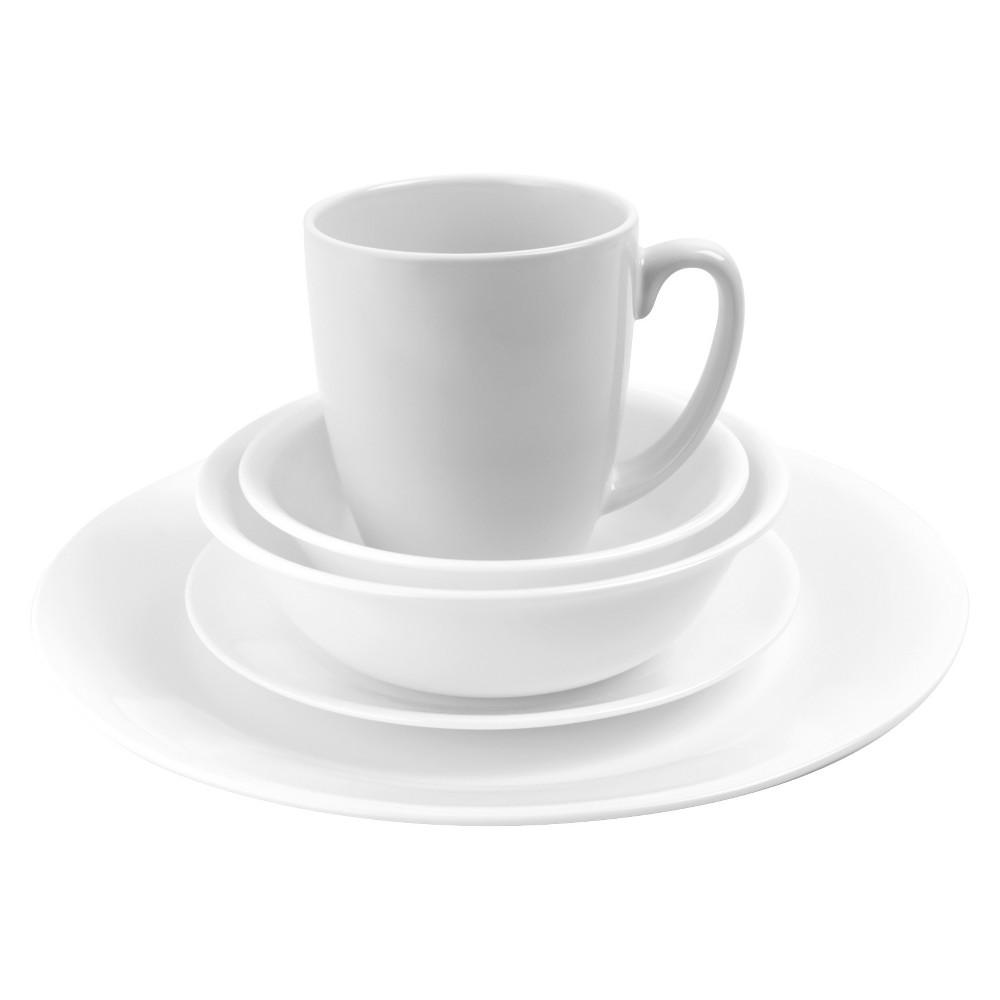 Corelle Livingware Winter Frost Vitrelle 20pc Dinnerware Set White
