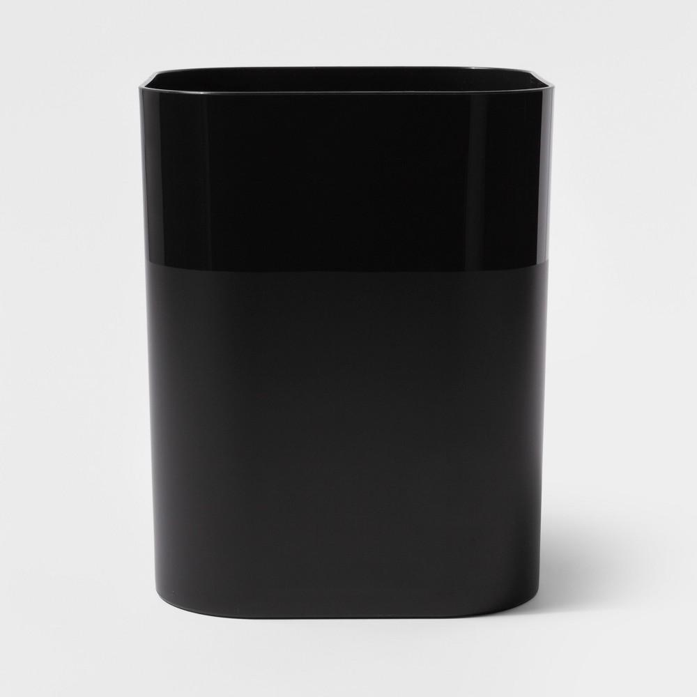 Plastic Bathroom Wastebasket Black - Room Essentials