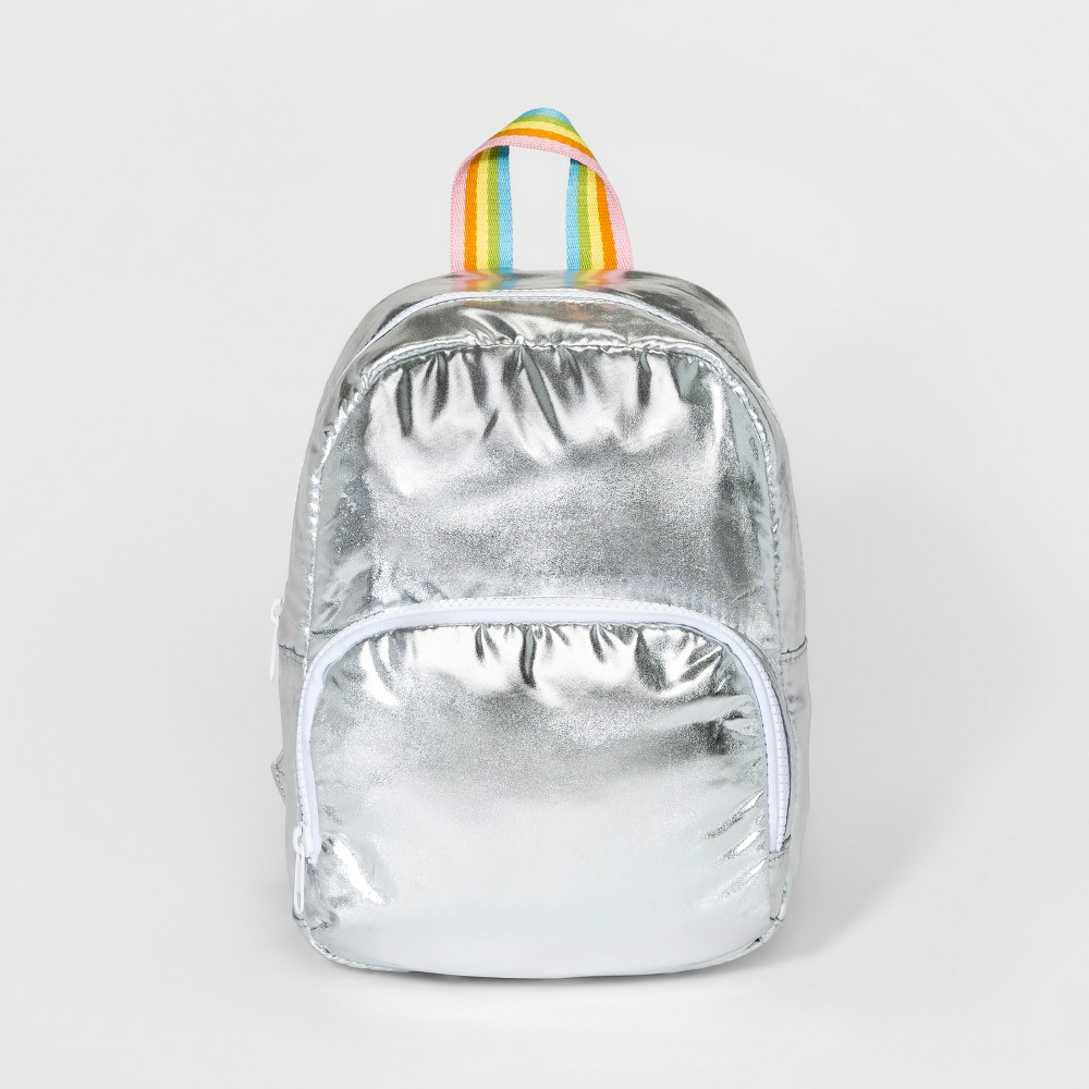 Girls' Rainbow Strap Backpack - Cat & Jack Silver