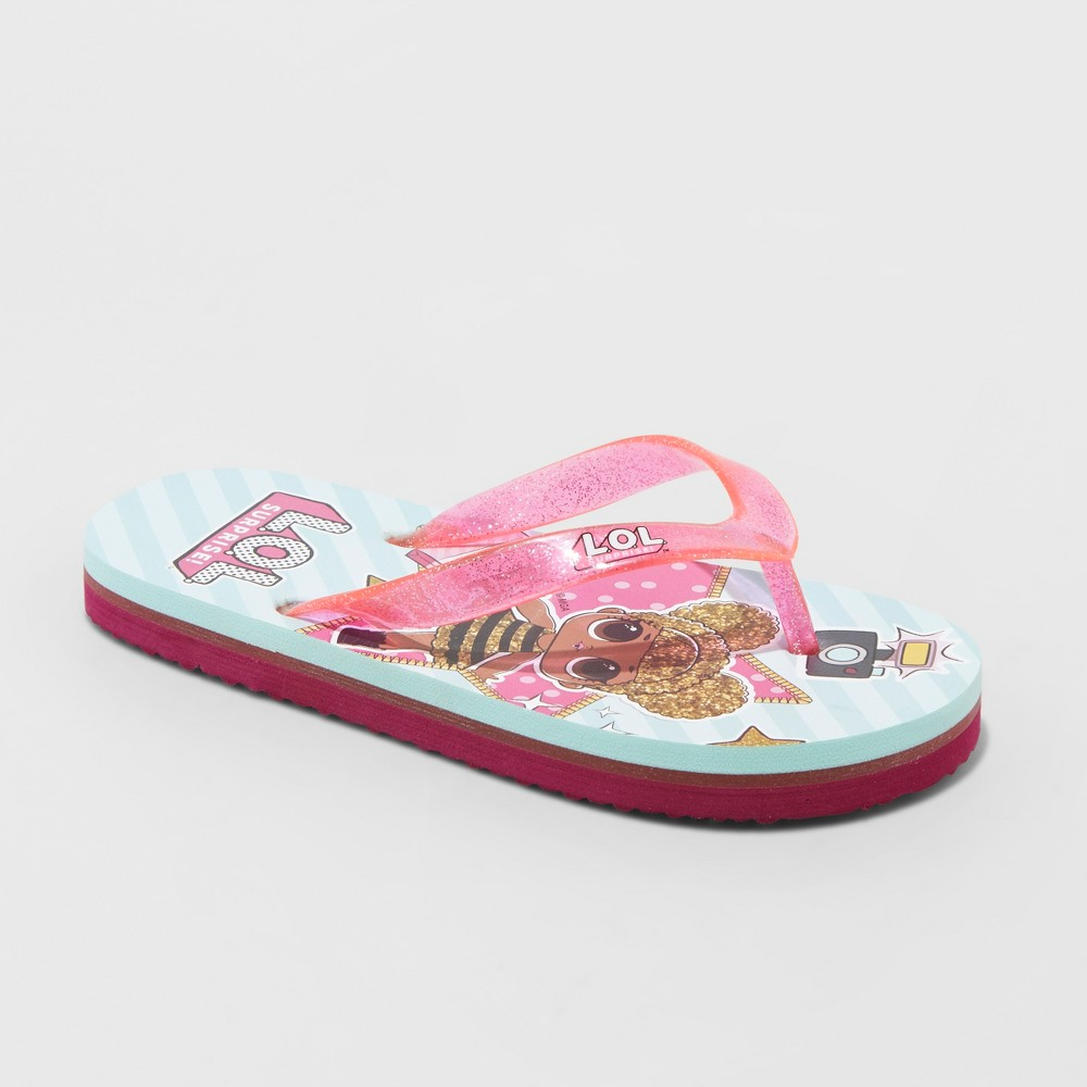 Girls' L.O.L. Surprise! Flip Flop Sandals - Blue S, Pink