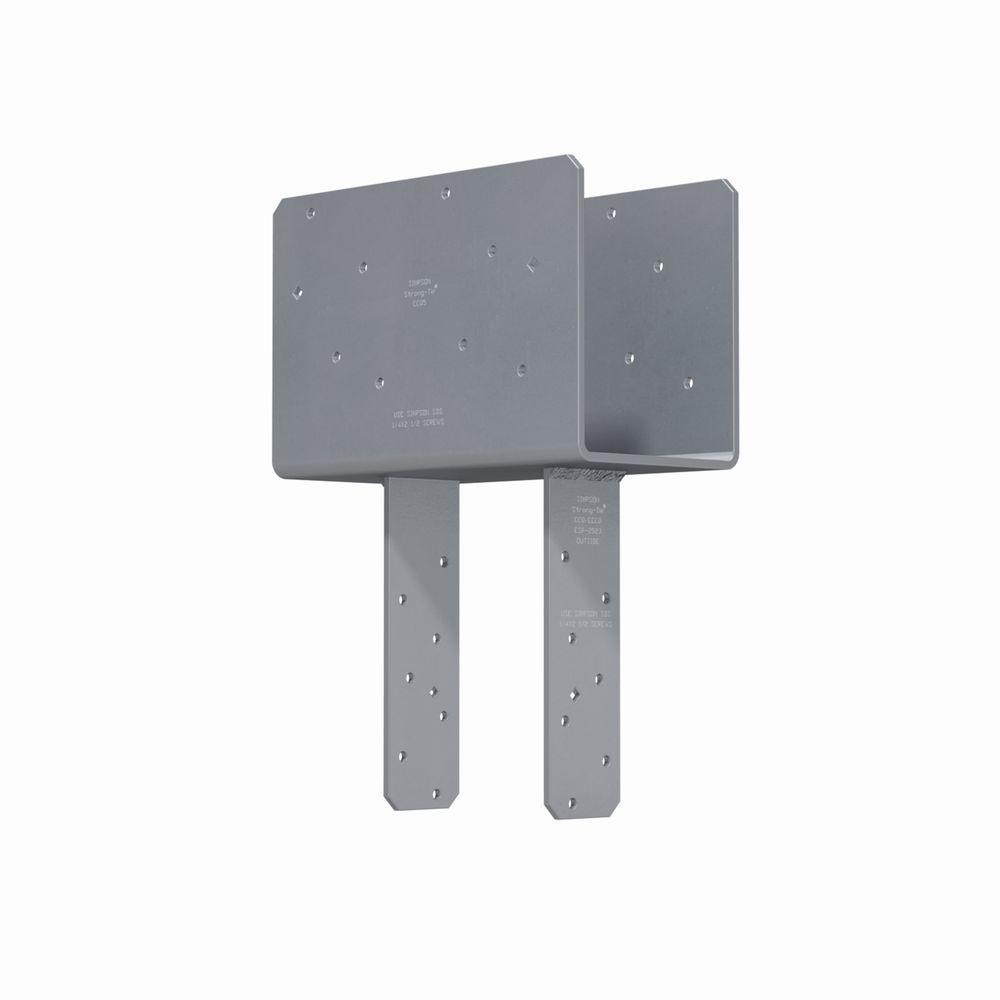 Simpson Strong-Tie 3-Gauge Column Cap with SDS Screws