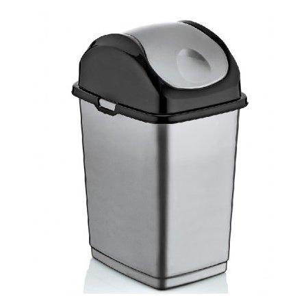 Superio Swing-Top Trash Can, 37 Qt (Grey)