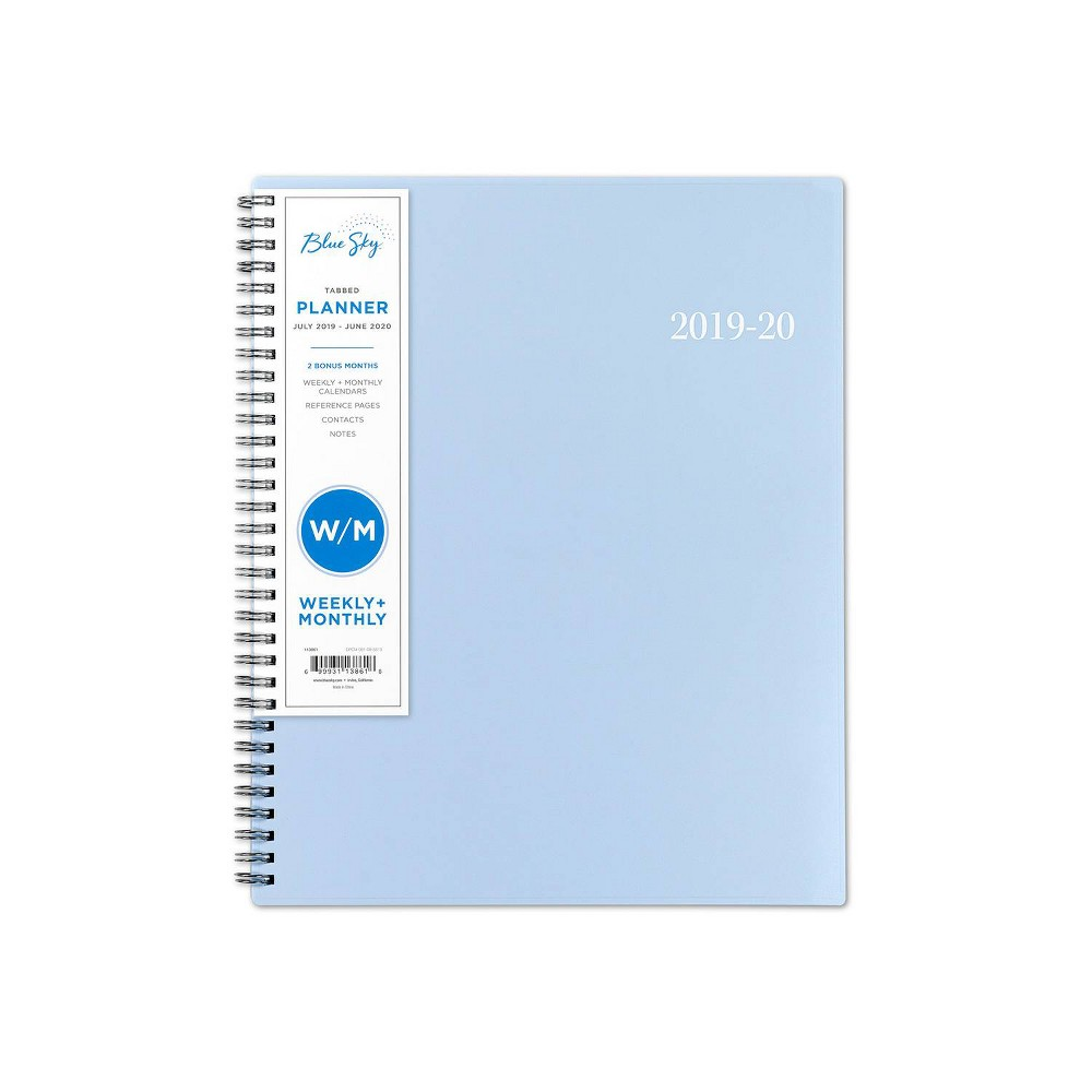 "2019-2020 Academic Planner 9""x 11"" Light Blue - Blue Sky"