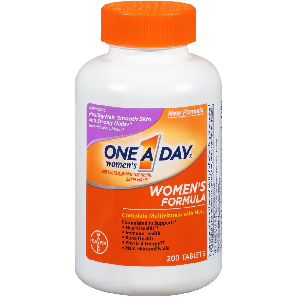 One A Day Women's Multivitamin / Multimineral Dietary Supplement Tablets - 200ct