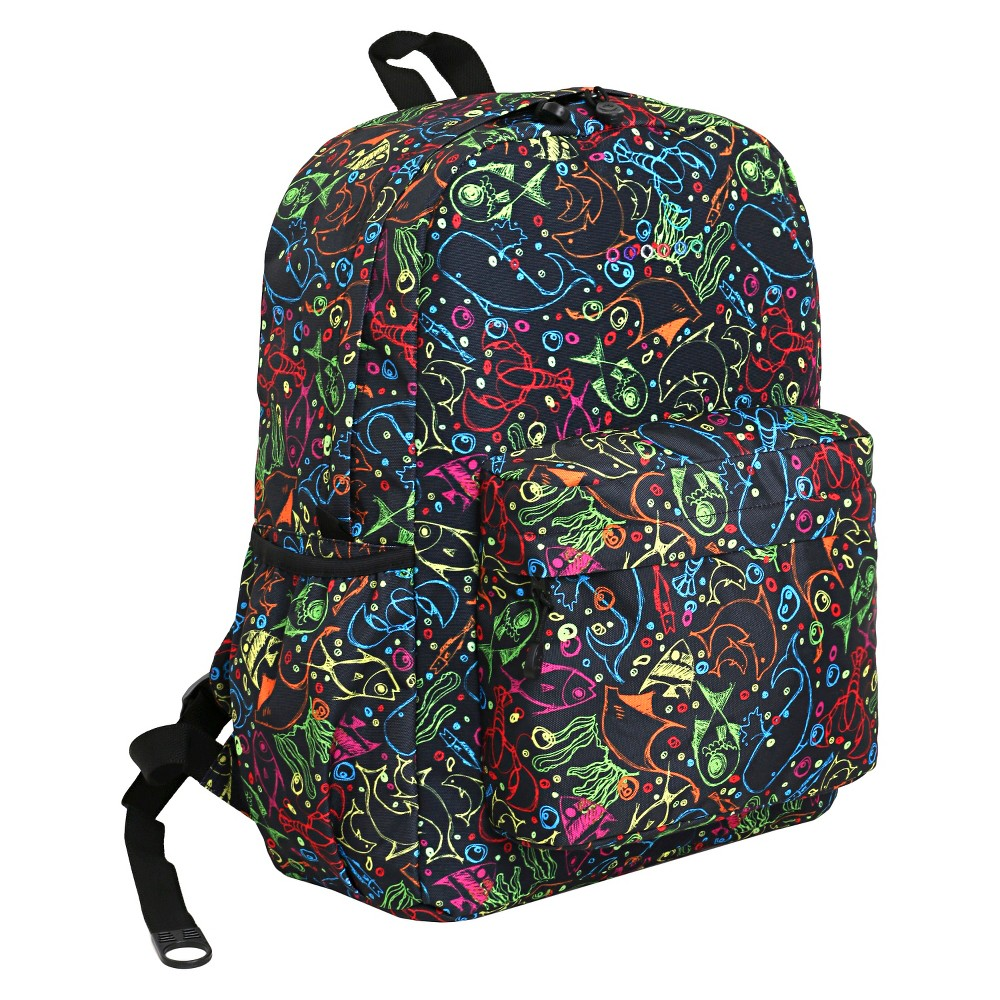 J World Oz Campus Backpack - Doodle, Black
