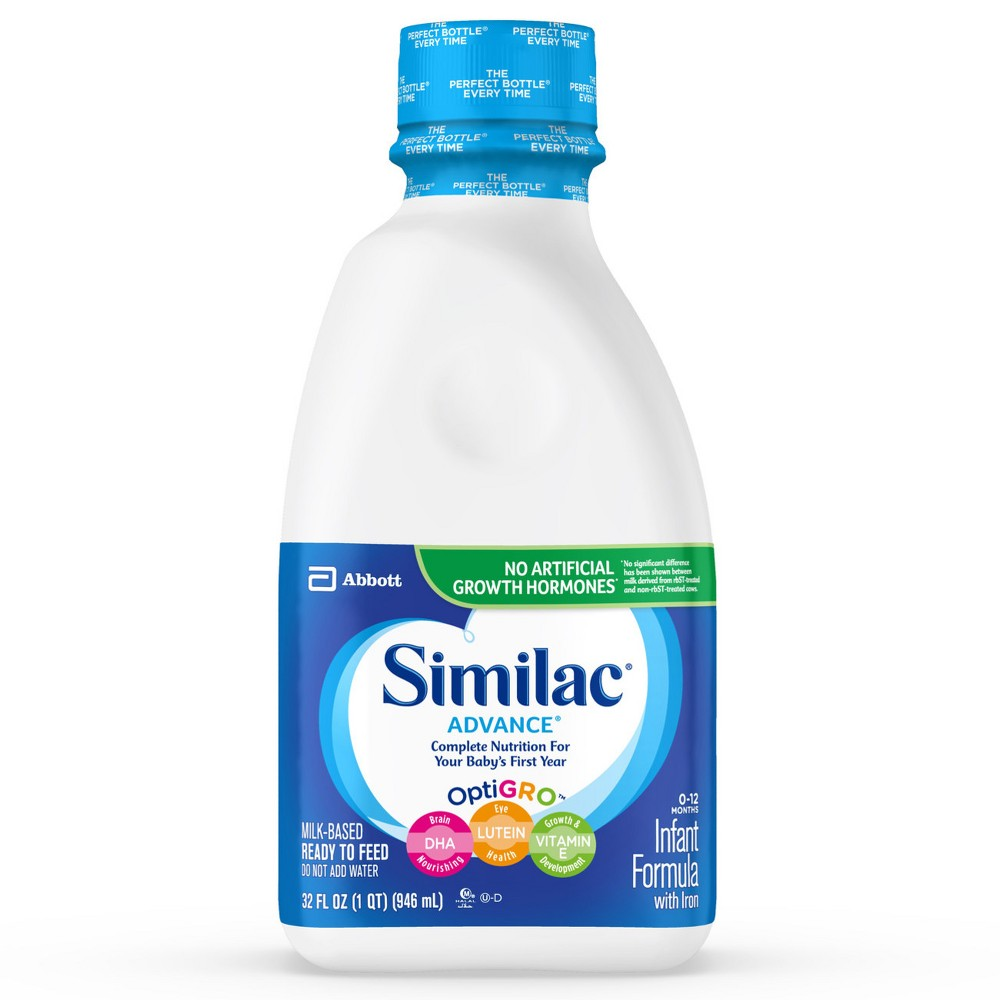 Similac Advance Infant Ready-to-Feed Formula with Iron - 1qt