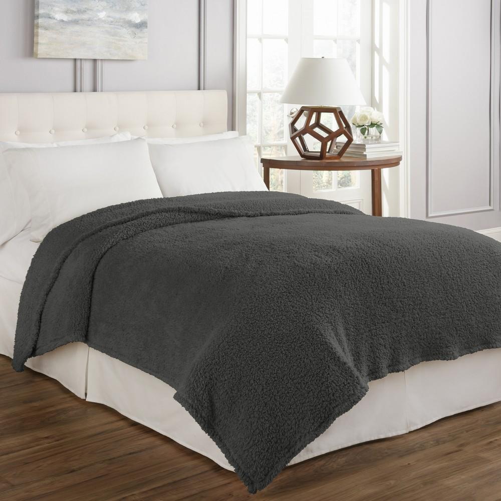 Cosette Ultra Soft Blanket (Twin) Gray - Beautyrest