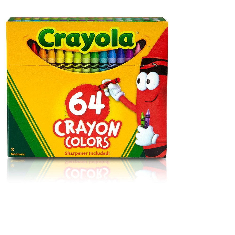 Crayola Crayons with Sharpener 64ct, Multi-Colored