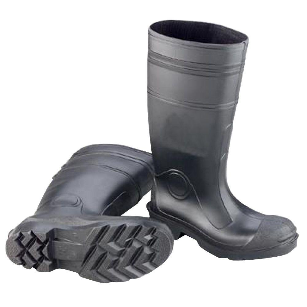 Enguard Men Size 8 Black PVC Plain Toe Boots, Men's