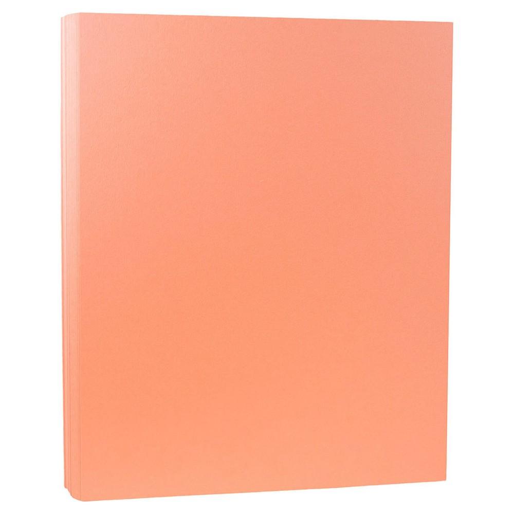 "Jam Paper, Basis 80lb Cardstock, 8.5"" x 11"", 50pk - Salmon Pink"
