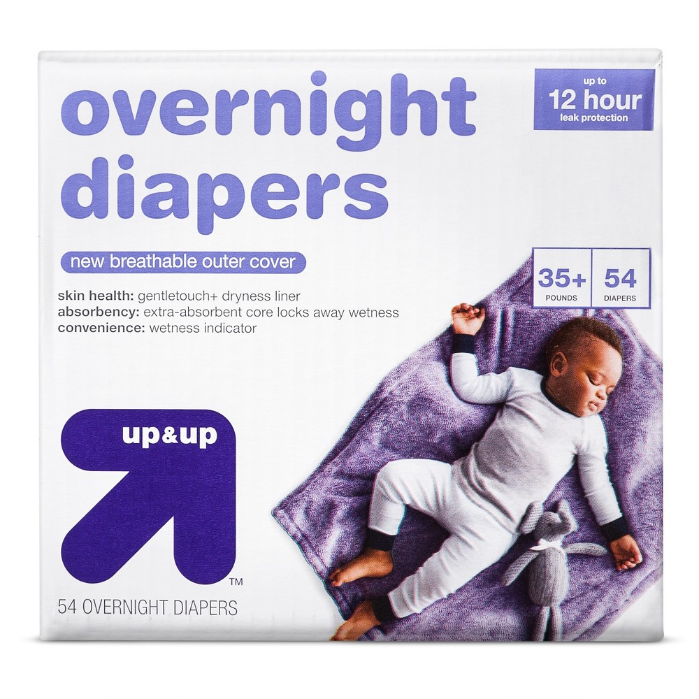 Overnight Diapers Size 6 54 ct - Up&Up, White