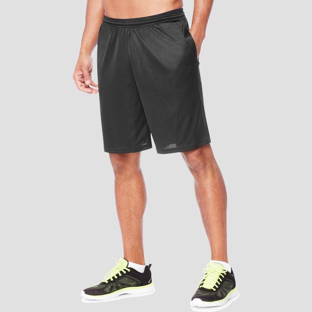 Hanes Men's 9 Sport Long Mesh Shorts - Black 2XL