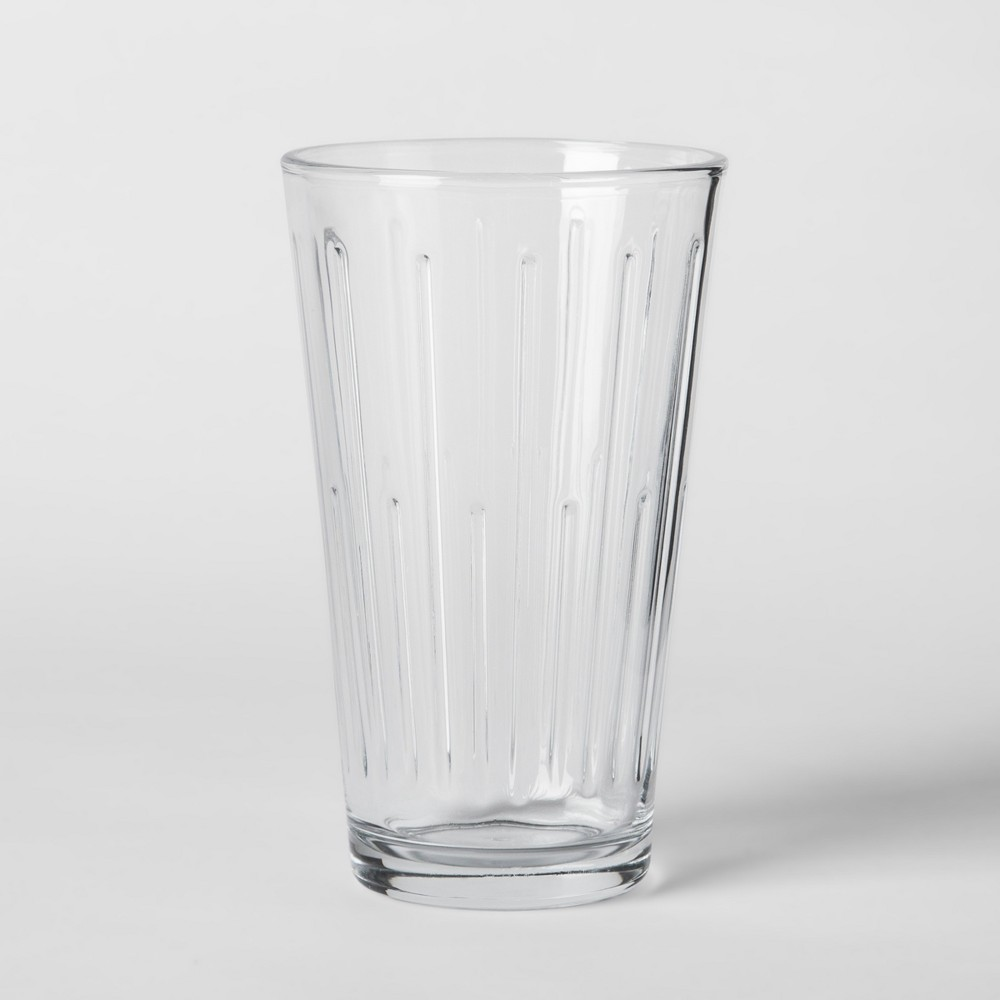 16oz 6pk Tall Pressed Glass Tumblers - Threshold, Clear