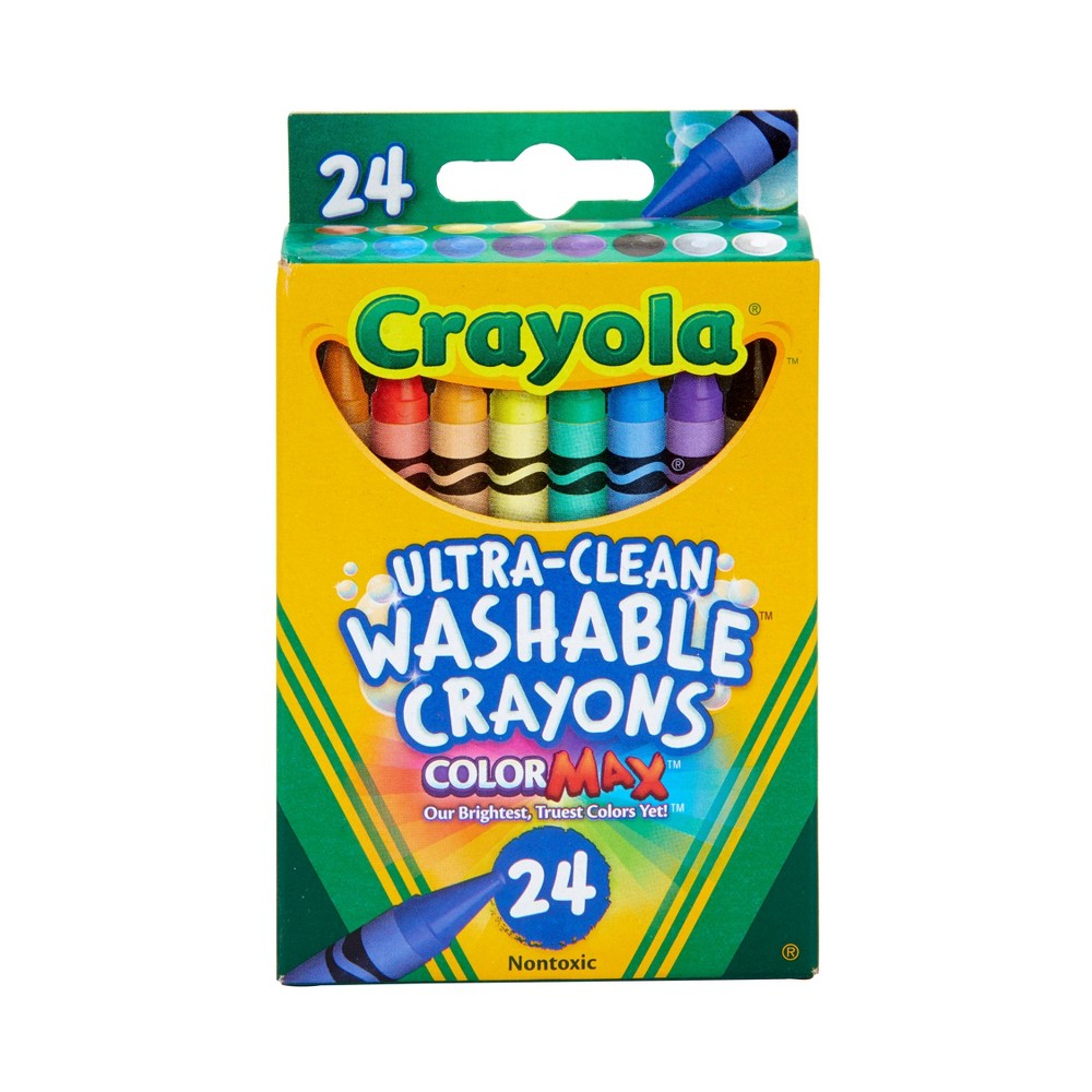 Crayola UltraClean Crayons Washable 24ct, Multi-Colored